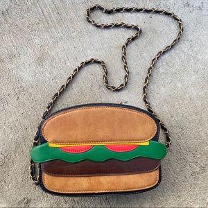 Nila anthony hamburger novelty purse bag